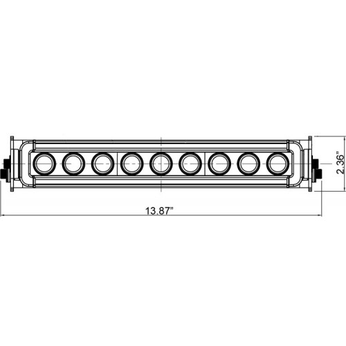 HORIZON PRIME BAR 9 LED 10° (E-mærket)