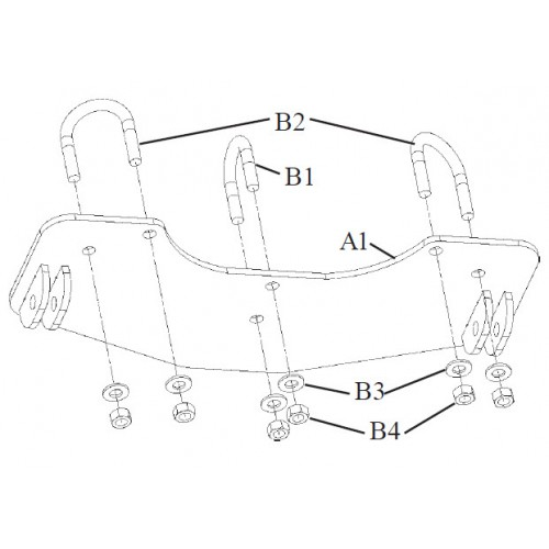ATV CENTER PLOW MOUNTING KIT 70583