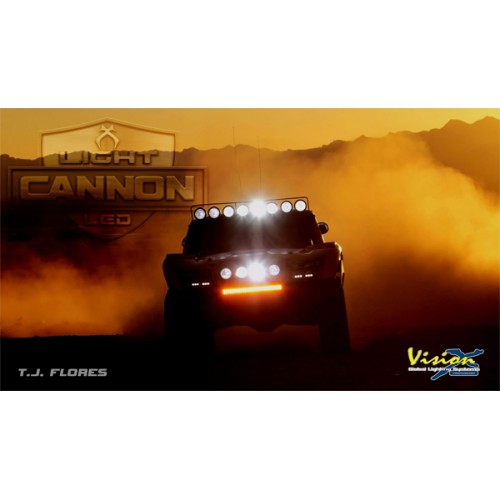 "VISION X LIGHT CANNON 6,7"" COVER YELLOW FLOOD"