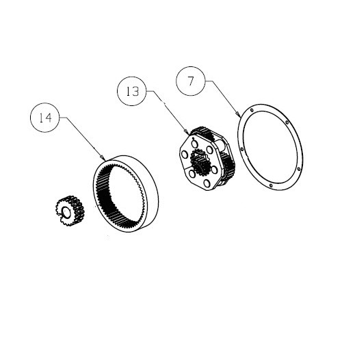 Ring gear kit TABOR 12K PN 92081