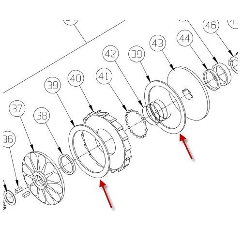 Bremsebelægning. M8274-50 PN 9734