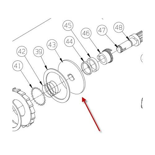 Bremseskive, indre. M8274-50 PN 7600