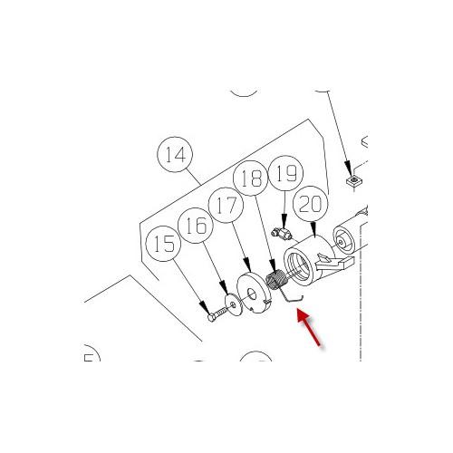 Fjeder for bremse M8274. PN 9257