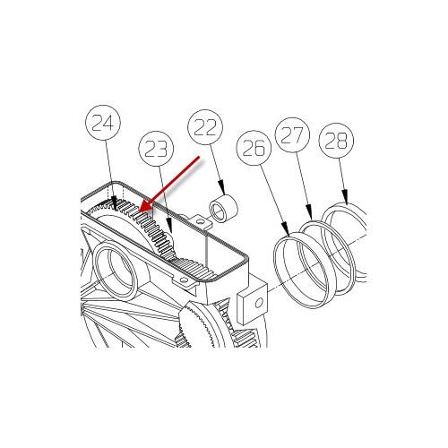 Gear (Nedre gearhus M8274) PN 7548