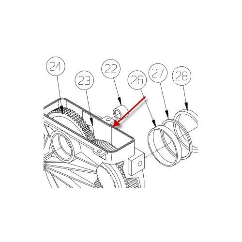 Låseplade (Nedre gearhus M8274) PN7552