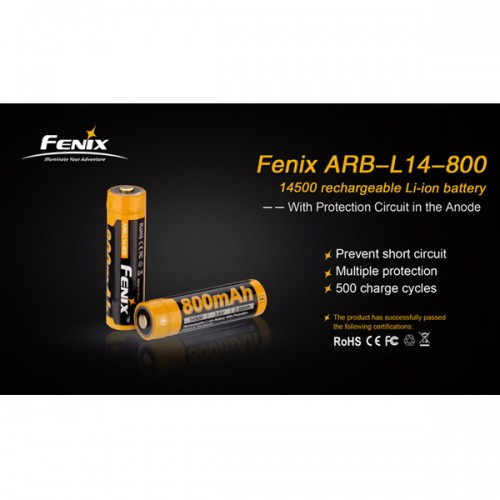 14500 LI-ION Batteri 800 mAh FENIX