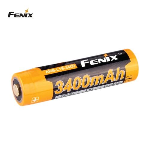 18650 LI-ION Batteri 3400 mAh FENIX