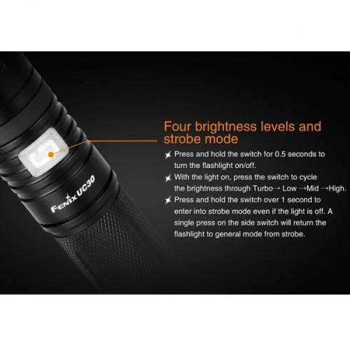 Fenix UC30 960 Lumen. LED Lommelygte