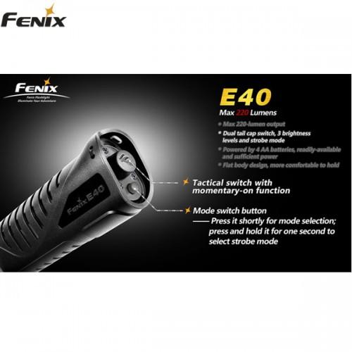 Fenix E40 - 220 Lumen.