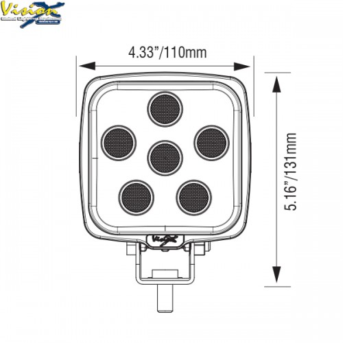 VISION X VL-SERIE FIRKANTET 9-LED 45W
