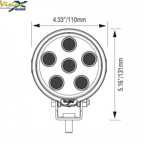 VISION X VL-SERIE RUND 9-LED 45W