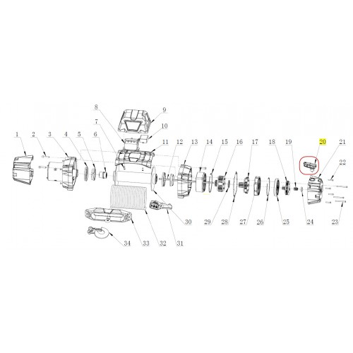 104231 Clutch lever - VR EVO