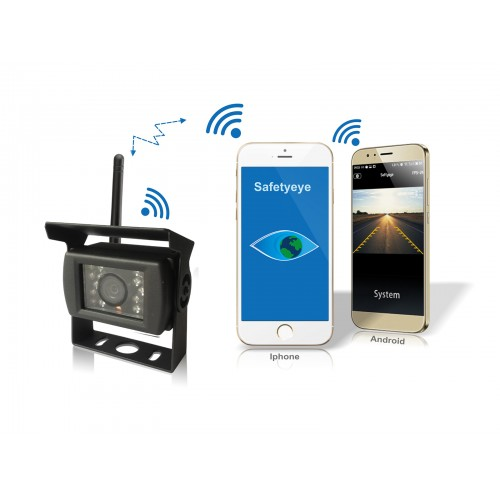 Bakkamera Trådløs til bil for Smartphone. Fastmontering