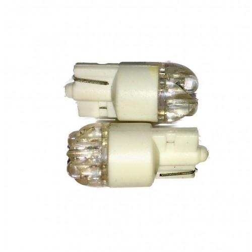"""LED diodepære """"Glassokkel"""" 5W Hvid"""