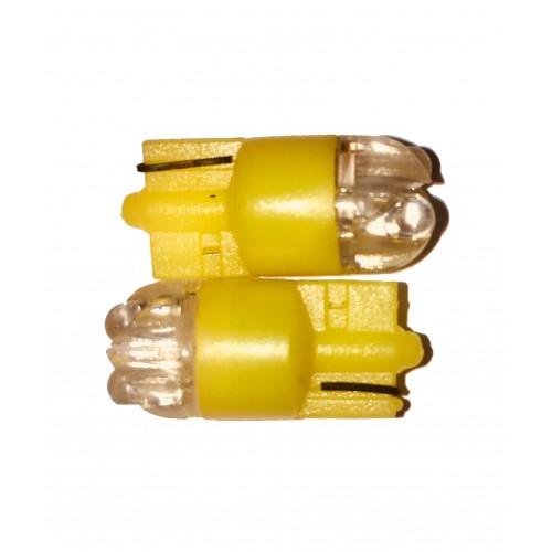 """LED diodepære """"Glassokkel"""" 5W Gul"""