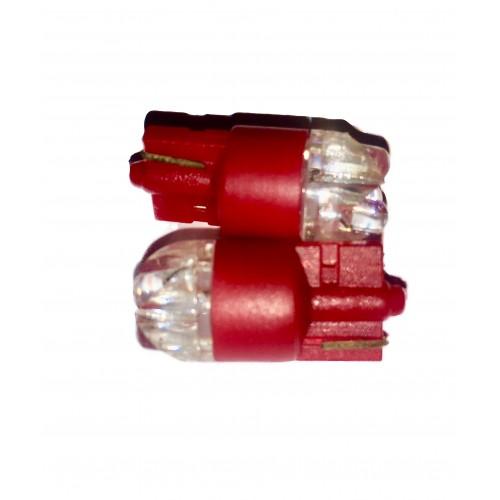 "LED diodepære ""Glassokkel"" 5W Rød"
