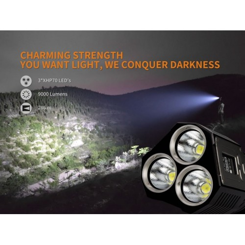 Fenix TK72R- 9000 Lumen. LED Lommelygte