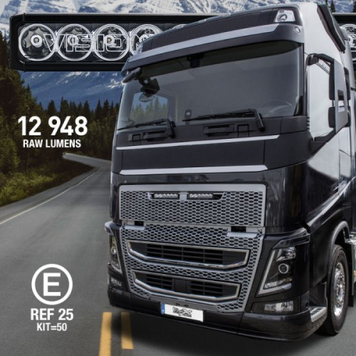 XPR-6GVOKIT LED Fjernlys Volvo FH4/FH16. 120W -Grill.
