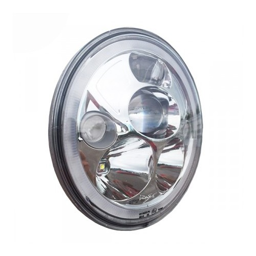 "VORTEX 7"" LED HEADLIGHT ""E"" MARKED KROM"