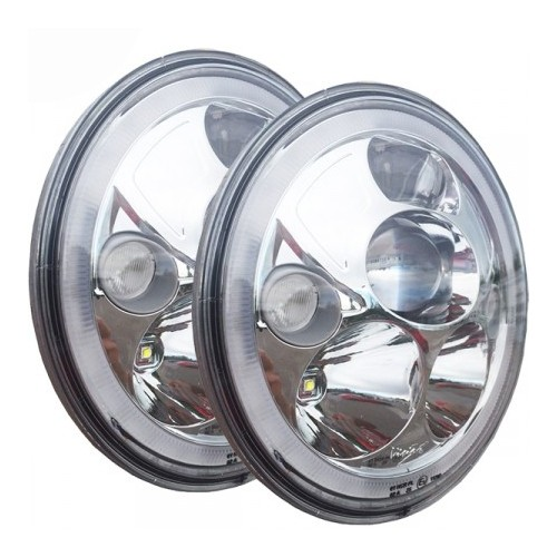 "VORTEX 7"" LED HEADLIGHT ""E"" MARKED KROM KIT"