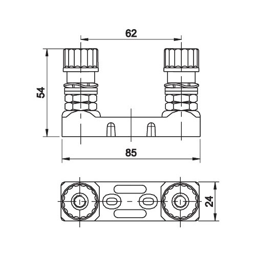 Sikringsholder for 62mm pladesikringer Max 425A.